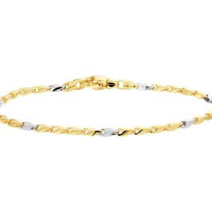 14 krt bicolor gouden Armband 2