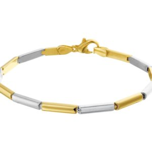 14 krt bicolor gouden Armband 3