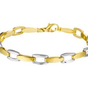 14 krt bicolor gouden Armband 6