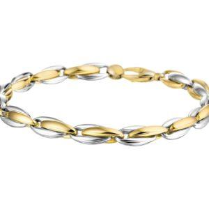 14 krt bicolor gouden Armband anker 5