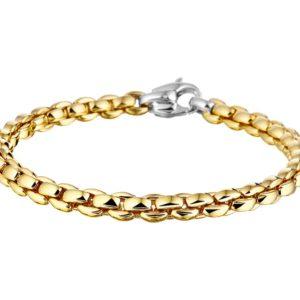 14 krt bicolor gouden Armband choker 5