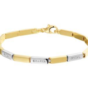 14 krt bicolor gouden Armband diamant 4