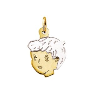 14 krt bicolor gouden Bedel jongen model. 4201247