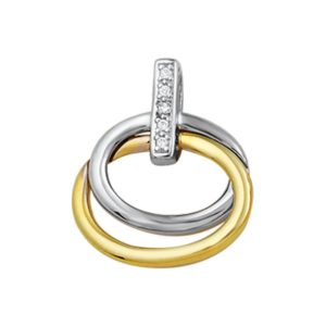 14 krt bicolor gouden Hanger diamant 0.025 ct. model. 4205256
