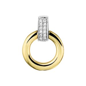 14 krt bicolor gouden Hanger diamant 0.056ct H SI model. 4207351