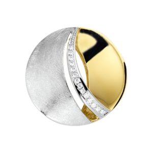 14 krt bicolor gouden Hanger diamant 0.06 ct. model. 4207109