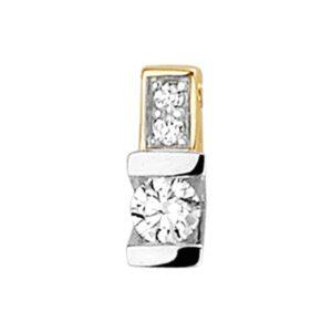 14 krt bicolor gouden Hanger diamant 0.09 ct. model. 4208021