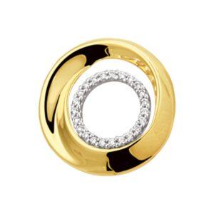 14 krt bicolor gouden Hanger diamant 0.10 ct. model. 4207515