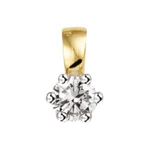 14 krt bicolor gouden Hanger diamant 0.10ct H SI model. 4208285