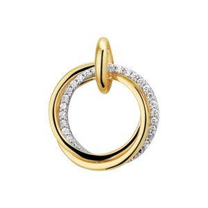 14 krt bicolor gouden Hanger diamant 0.12 ct. model. 4207704