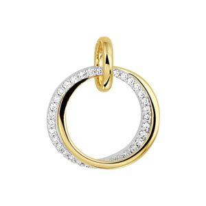 14 krt bicolor gouden Hanger diamant 0.14 ct. model. 4207845