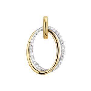 14 krt bicolor gouden Hanger diamant 0.15 ct. model. 4207846