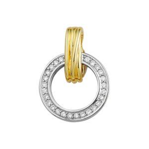 14 krt bicolor gouden Hanger diamant 0.18 ct. model. 4205259