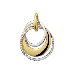 14 krt bicolor gouden Hanger diamant 0.21 ct. model. 4207802