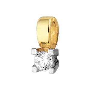 14 krt bicolor gouden Hanger diamant 0.25ct H SI model. 4205239