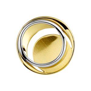 14 krt bicolor gouden Hanger poli/mat model. 4207489