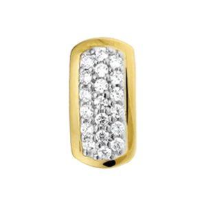 14 krt bicolor gouden Hanger zirkonia model. 4202413