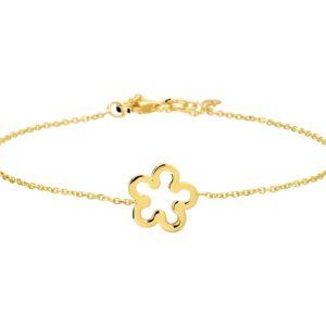 14 krt geelgouden Armband bloem 1