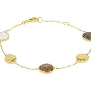14 krt geelgouden Armband edelstenen 1