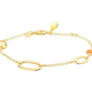 14 krt geelgouden Armband edelstenen 2