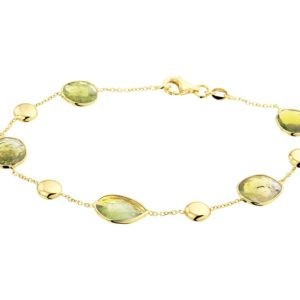 14 krt geelgouden Armband groen toermalijn 1