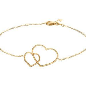14 krt geelgouden Armband hart 1