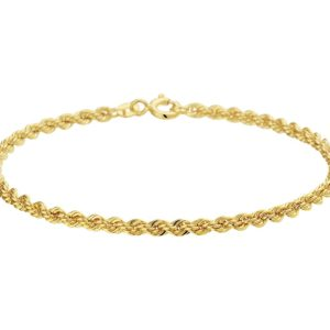 14 krt geelgouden Armband koord 2