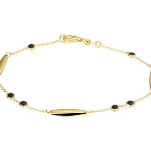 14 krt geelgouden Armband onyx 1
