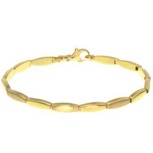 14 krt geelgouden Armband poli/mat 4
