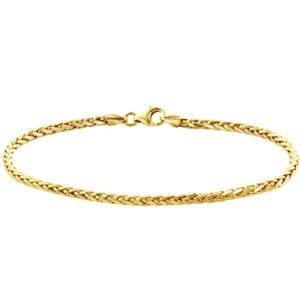 14 krt geelgouden Armband vossestaart 2
