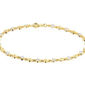 14 krt geelgouden Armband zirkonia 3
