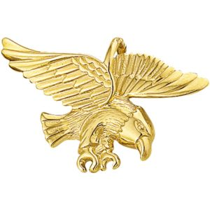 14 krt geelgouden Bedel adelaar poli/mat model. 4002126