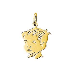 14 krt geelgouden Bedel jongen model. 4005862