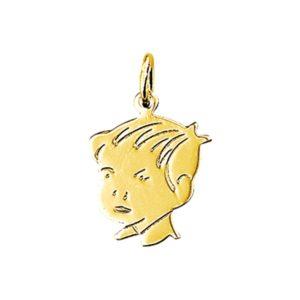 14 krt geelgouden Bedel jongen model. 4012060