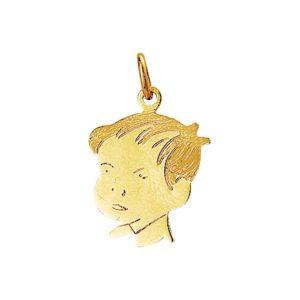 14 krt geelgouden Bedel jongen poli/mat model. 4005829