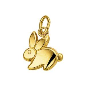 14 krt geelgouden Bedel konijn model. 4006953