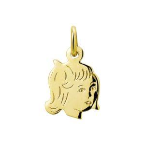 14 krt geelgouden Bedel meisje model. 4005850