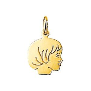 14 krt geelgouden Bedel meisje model. 4005855