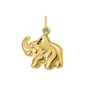 14 krt geelgouden Bedel olifant model. 4001889