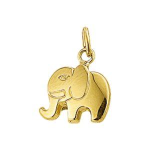 14 krt geelgouden Bedel olifant model. 4006952