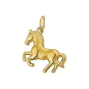 14 krt geelgouden Bedel paard model. 4008578