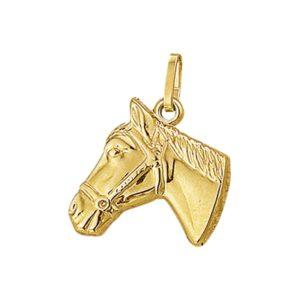 14 krt geelgouden Bedel paardenhoofd model. 4001847