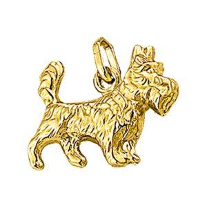 14 krt geelgouden Bedel terrier model. 4010352