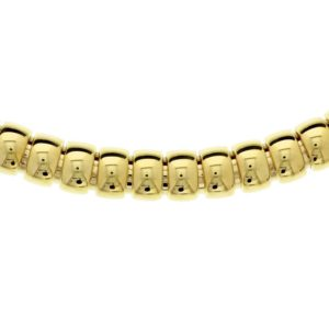 14 krt geelgouden Collier choker 12 mm 45 cm model. 4017373