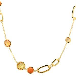 14 krt geelgouden Collier edelstenen 2