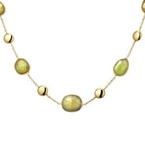 14 krt geelgouden Collier groen toermalijn 1
