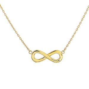 14 krt geelgouden Collier infinity 41 + 4 cm model. 4017085