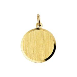 14 krt geelgouden Graveerhanger gediamanteerd model. 4006187