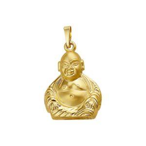 14 krt geelgouden Hanger Boeddha poli/mat model. 4008995