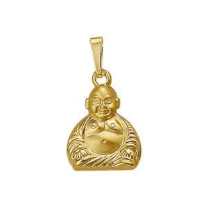 14 krt geelgouden Hanger Boeddha poli/mat model. 4009745
